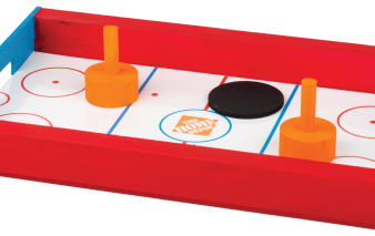Homemade table hockey game