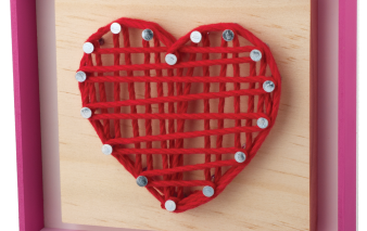 Heart String Art Project