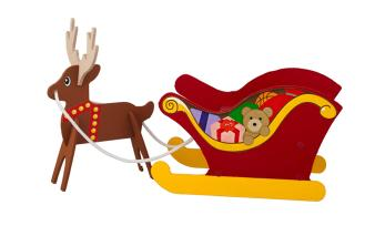 Sled and Reindeer